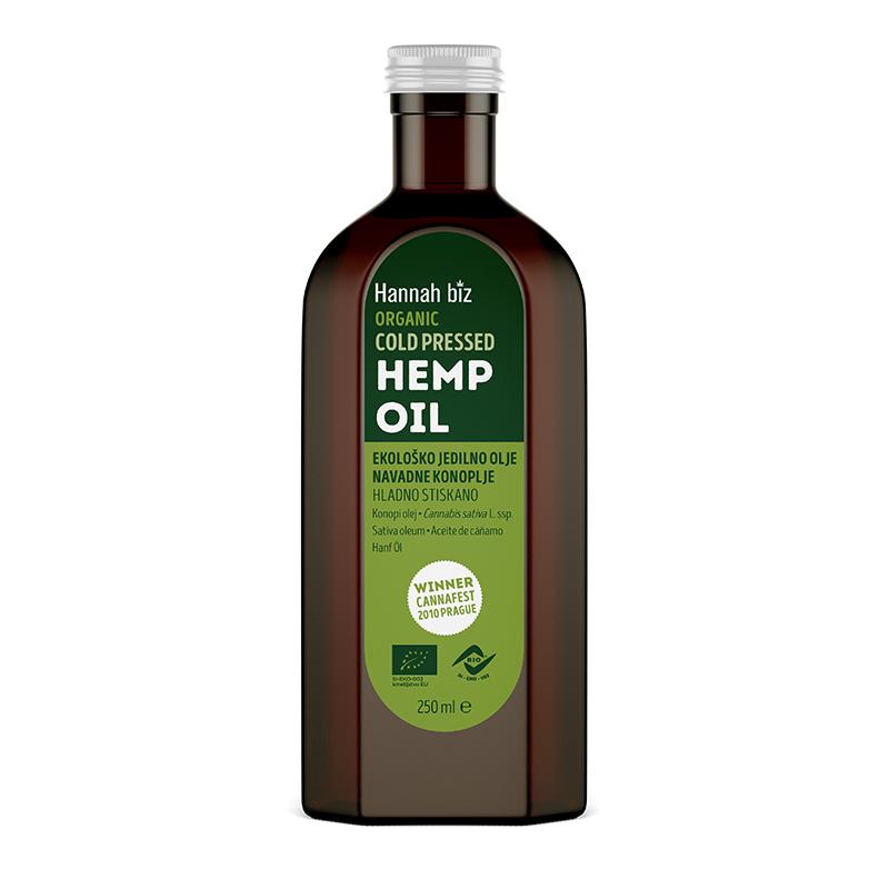 EKO konopljino olje, jedilno, hladno stiskano – 250ml