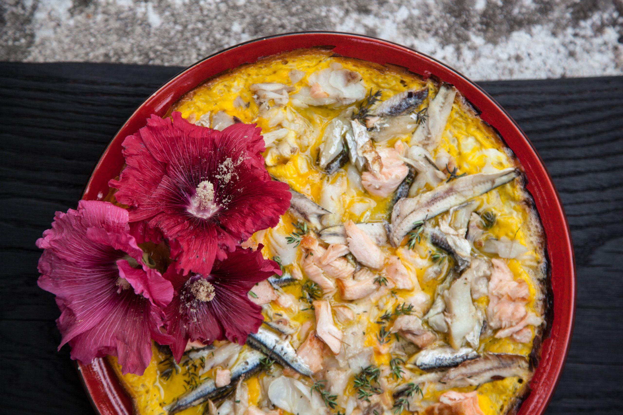 Fish omelette